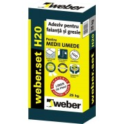 Weber H20 adeziv gresie pentru medii umede