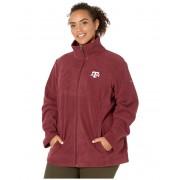 Columbia College Plus Size Texas AampM Aggies CLG Give and Gotrade II Full Zip Fleece Jacket Deep Maroon