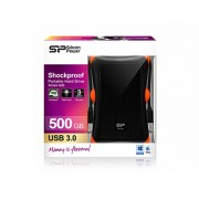 "External 500GB 2.5"" Silicon Power USB3.0 A30 Armor Anti-shock Black"