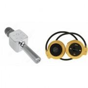 Zemini Q7 Microphone and Mini 503 Bluetooth Headset for SONY xperia xa dual(Q7 Mic and Karoke with bluetooth speaker | Mini 503 Bluetooth Headset With Mic)