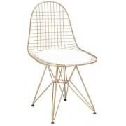 KH Krzesło Net Rose Gold biała poduszka