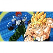 goku vs androids sticker poster|dragon ball z poster|anime poster|size:12x18 inch|multicolor