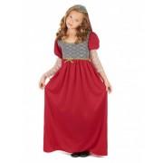 Disfraz medieval niña S 4-6 años (110-120 cm)