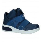 Geox Blauwe Hoge Sneakers met Lichtjes