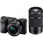 Sony Alpha ILCE-6000Y Set System Kamera, inkl. 2 E-Mount-Objektive (16-50mm & 55-210mm), 24,3 MP