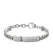 Diesel Armband staal zilverkleurig 19-21 cm DX0966040