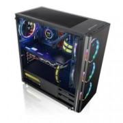 Кутия Thermaltake V200, ATX, mATX, mITX, прозорец, 1x USB 3.0, 2x USB 2.0, черна, без захранване