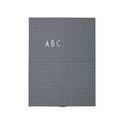 Design Letters Tableau memo A4 / L 21 x H 30 cm - Design Letters gris foncé en matière plastique