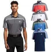 adidas Golf Homme 2020 Ultimate 3 Stripe Polo Shirt Trace Royal/Grey Four Mel XXL