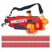 Mege Nerf N-Strike Mega Mastodon Blaster with 24 Dart Drum and 72 Whistler Darts 100 Ft Shooting Distance