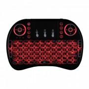 IPazzPort mini teclado inalambrico con retroiluminacion RGB - Negro