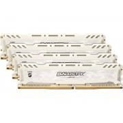 Модуль памяти Crucial Ballistix Sport LT White DDR4 UDIMM 2400MHz PC4-19200 CL16 - 32Gb Kit (4x8Gb) BLS4K8G4D240FSCK