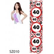 40. Születésnap 010 - Tréfás szépségszalag
