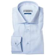 Ledub overhemd Tailored Fit 0034569 in het Licht Blauw