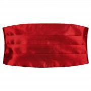 TND Basics Eenvoudige Glanzende Rode Cumberband