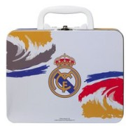 Real Madrid Lunchtrommel Tin - Wit/Blauw/Geel