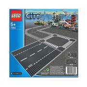 LEGO City - Rechte wegplaat en kruising 7280