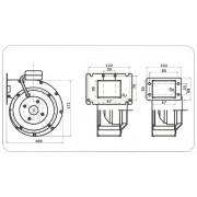 Kazán befuvó ventilátor TECH T70 W