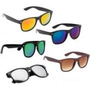 SRPM Wayfarer Sunglasses(Yellow, Blue, Green, Silver, Brown)