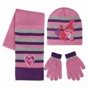 Trolls Poppy handschoenen/sjaal/muts voor kinderen
