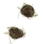 ELECTROPRIME 2Pcs Plastic Wildlife World Birds Roosting House Home Xmas Tree Bird Nest