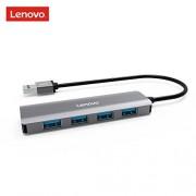 Lenovo USB 3.0 Hub, 4 Ports Aluminum USB 3.0 Data Hub, Slim and Portable, Compatible for MacBook Air, Mac Mini, iMac Pro, Microsoft Surface, Notebook PC, USB Flash Drives, Mobile HDD, and More
