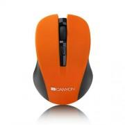 Canyon CNE-CMSW1O, Wireless optická myš USB, 800/1000/1200 dpi, oranžovo-čierna