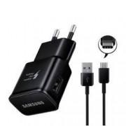 Incarcator retea Samsung EP-TA20EBE cu cablu Type C incarcare rapida Adaptive Fast Charging