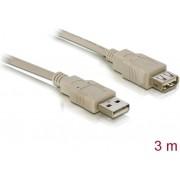 Kabel DELOCK, USB 2.0, USB-A (M) na USB-A (Ž), produžni, 3m