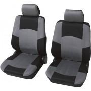 Set 2 huse scaun auto faţă, poliester, negru, gri, 6 piese, Petex Classic