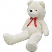 vidaXL Urso de peluche XXL branco 175 cm