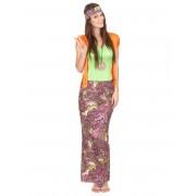 Deguisetoi Déguisement hippie rose et vert femme - Taille: S / M