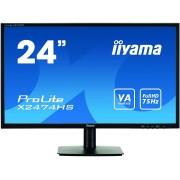 "IIYAMA ProLite X2474HS-B1 - Monitor LED - 24"" (23.6"" visível) - 1920 x 1080 Full HD (1080p) - VA - 250 cd/m² - 3000:1 - 4 ms -"