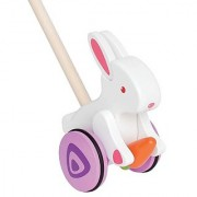 Hape - Bunny Wooden Push and Pull Toy
