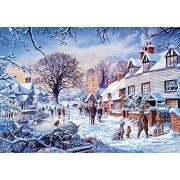 Wentworth A Village in Winter Miniature 40 Piece Wooden Jigsaw Puzzle