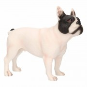 Geen Beeldje witte Franse Bulldog hond 11 cm - Action products