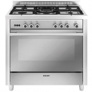 Glem Gas M965vi Cucina 90x60 5 Fuochi A Gas Forno A Gas Ventilato Con Grill Elet