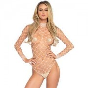LEG AVENUE BODY DE MALLA BLANCO U