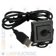 Mini Micro Telecamera Pinhole 3.7mm CMOS HD 720P connessione USB