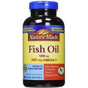 Nature Made Fish Oil 1200mg 360mg 200 Softgels EXPIRY AUGUST-2018
