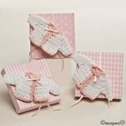 Caja 5 peladillas de chocolate chaqueta rosa