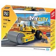 Joc constructie Blocki, Masina cu cilindru asfaltare, 115 piese