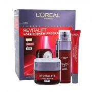 L´Oréal Paris Revitalift Laser Renew confezione regalo cura quotidiana della pelle 50 ml + siero per la pelle 30 ml +crema per contorno occhi 15 ml donna