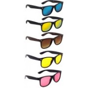 Ivonne Wayfarer Sunglasses(Blue, Red, Brown, Red, Yellow)