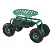 Подвижен градински стол [pro.tec]® 81 x 44,5 x 54 cm, Зелен