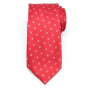 Men classical tie (pattern 1307) 8462 in red color with dots