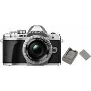 Olympus »E-M10 Mark III 14-42« Panoramakamera (Pancake Zoom Kit EZ, 16,1 MP, WLAN (Wi-Fi), Panorama-Modus, Videoaufnahmen in 4K 2160p), silberfarben