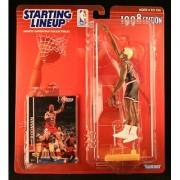 DENNIS RODMAN / CHICAGO BULLS 1998 NBA Starting Lineup Action Figure & Exclusive NBA Collector Trading Card