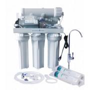 RO-Traditional 200GPD direkt átfolyós rendszerű RO víztisztító nyomásfokozóval
