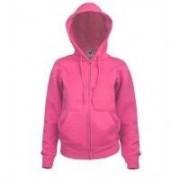 Lady-Fit Hooded Sweat Jacket Fuschia